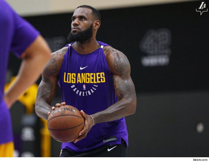 low priced 0849d 975a2 LeBron James Looks Freakin' Huge During Lakers Workout