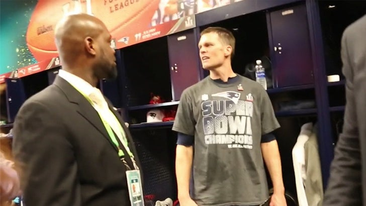 Tom Brady Unable to Find Jersey after Victory