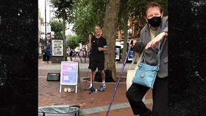 BBC One's Jason Allan Inspires Old Woman to Dance While Busking to Elvis
