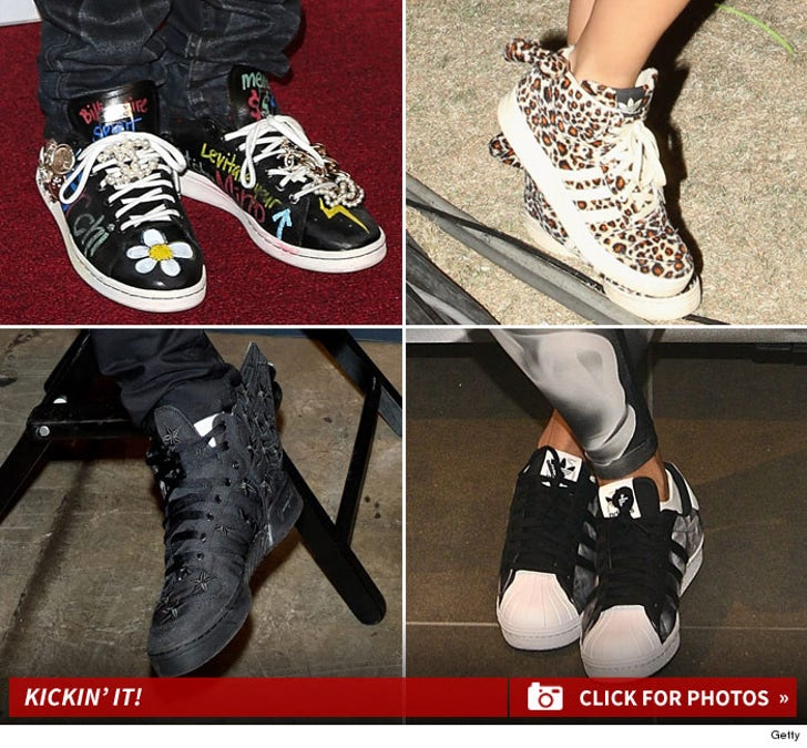 Celebs Sportin' Adidas -- Guess Who!!!