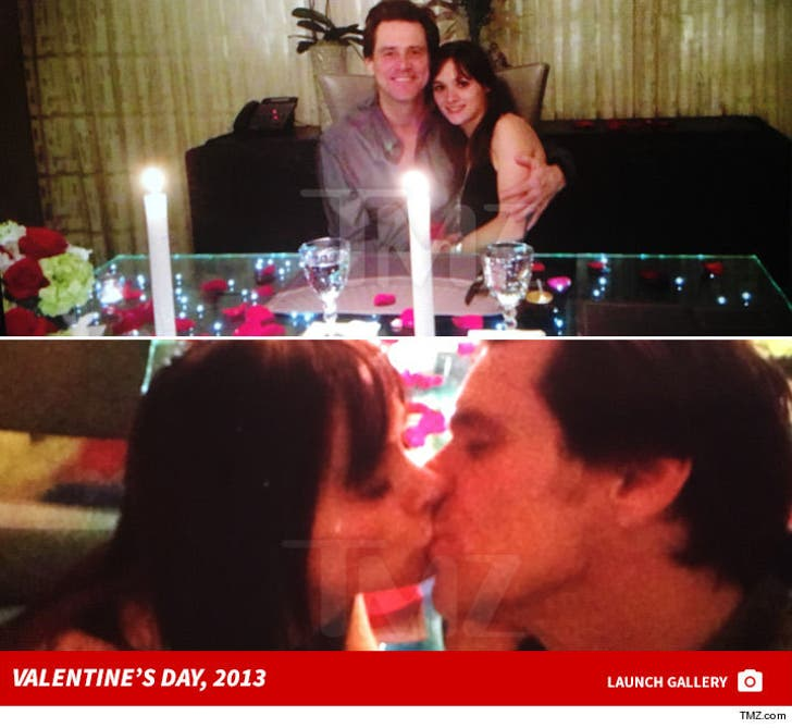 Jim Carrey and Cathriona White -- Valentines Day, 2013