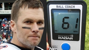 Tom Brady Shows Off 61 MPH Throw, Fall Off What Cliff?!