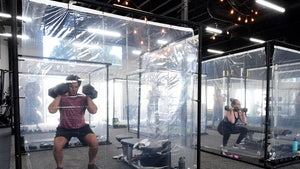 CA Gym Installs Shower Curtain Workout Pods In Return From COVID Closure