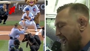 Conor McGregor Throws Awful First Pitch, Butchers 7th Inning Stretch At Cubs Game
