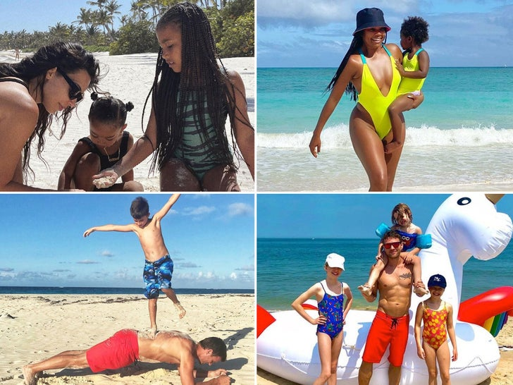 Celebrity Family Beach Day