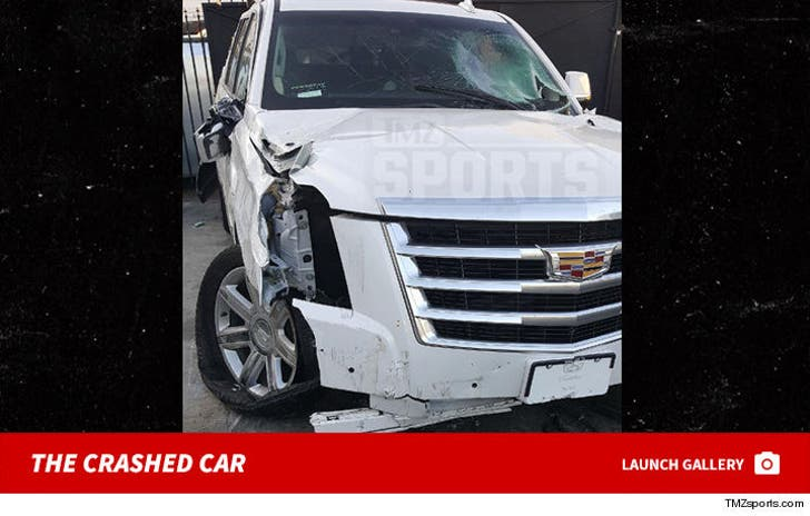 Derek Fisher DUI Crash Photos