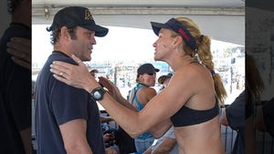 Kerri Walsh -- Dominates Beach Volleyball Tourney ... Celebrates with Vince Vaughn