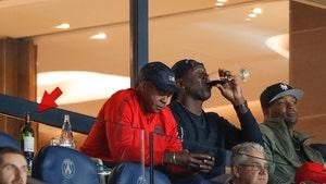 Michael Jordan Crushin' Fancy Wine at PSG Soccer Game