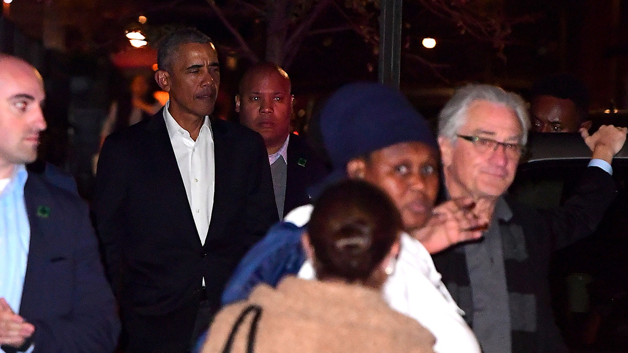 Barack Obama Dines with Robert De Niro and Tim Cook in NYC