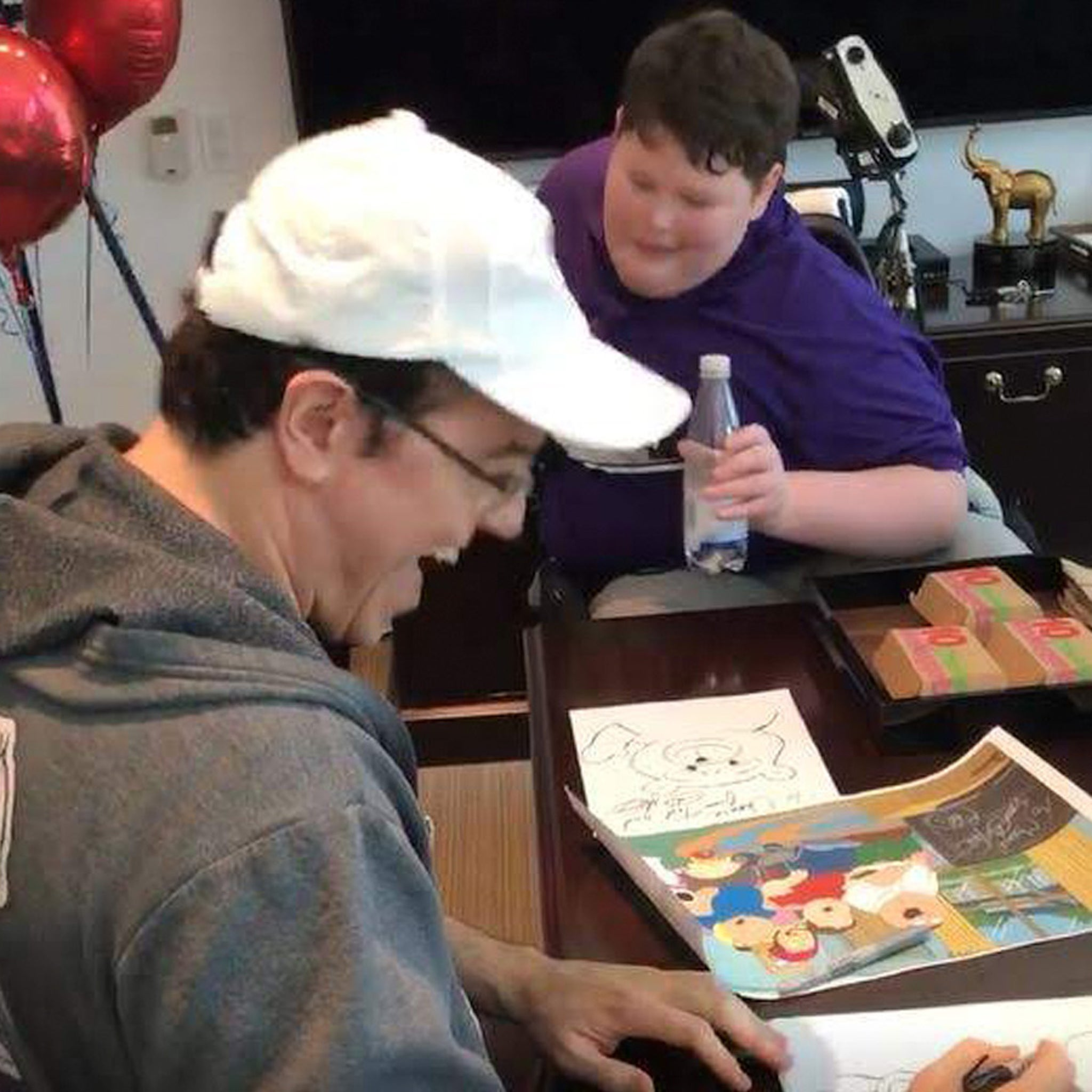 Seth MacFarlane Grants Young Disabled 'Family Guy' Fan's Wish