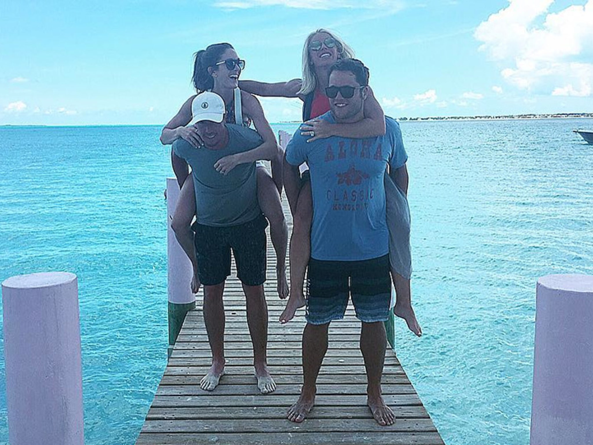 Nfl S Matt Stafford Couples Beach Vacation With Matt Ryan