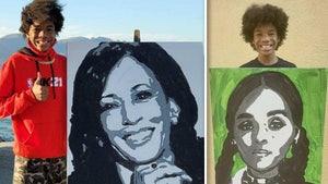 Viral Kamala Harris Portrait Artist Doing Piece for Janelle Monae