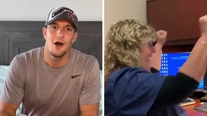 Rob Gronkowski Surprises 4 Health Workers with Super Bowl Tix, Awesome Video!