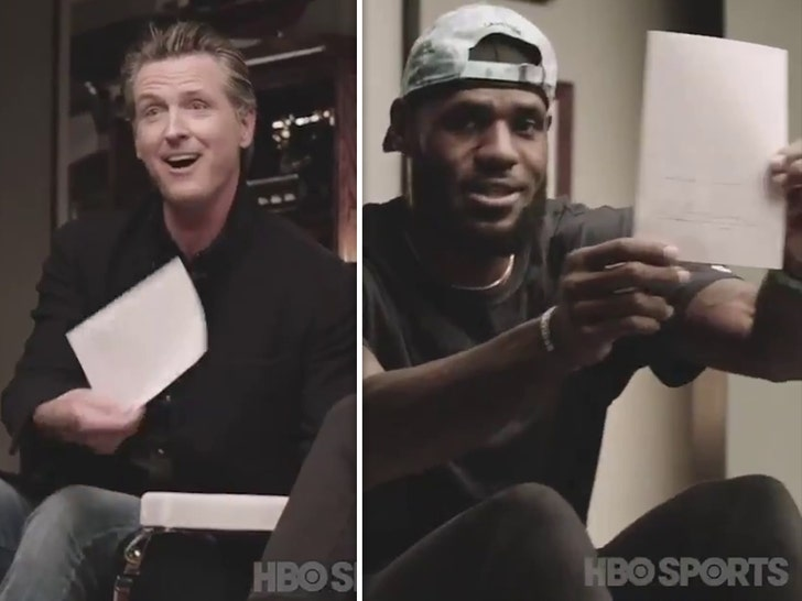 LeBron James' 'The Shop' hosts California Governor Gavin Newsom for bill signing