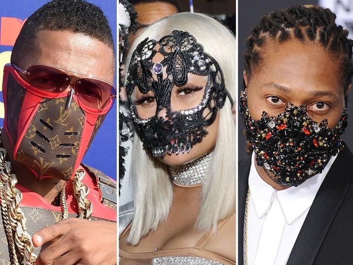 Stars Wearing Mask Bling