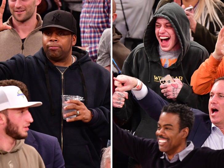 Knicks vs. Rockets -- Famous Fans