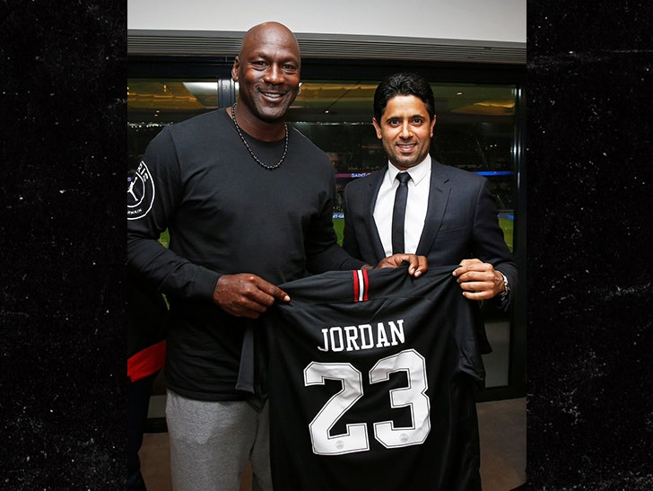 new style da70d 12c6a Michael Jordan Crushin' Fancy Wine at PSG Soccer Game