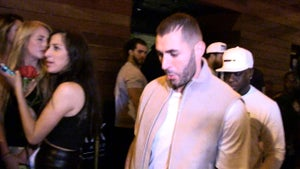 Rihanna -- Pulls Hat Trick with Karim Benzema ... 3rd Late Night Together