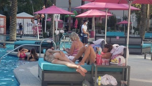 First Las Vegas Pool Party Since Reopening, Face Masks and Bikinis All Around