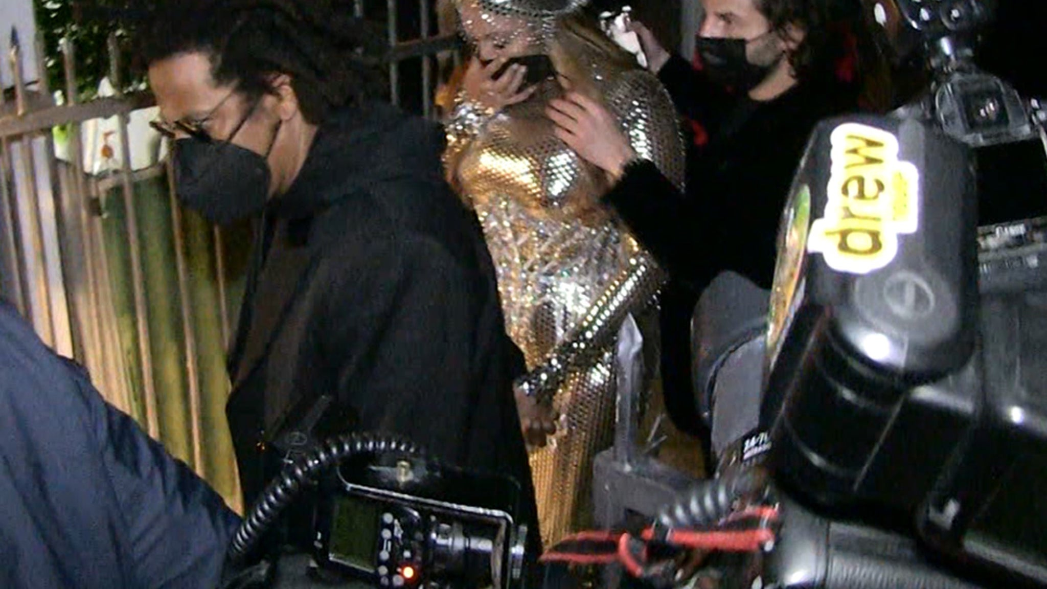 Beyonce & Jay-Z Swarmed at Grammys After-Party After Her Historic Night