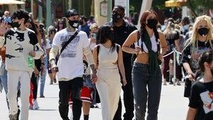 Kourtney Kardashian, Travis Barker Take the Fam to Disneyland