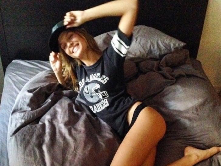 Josephine Skriver -- Hottest Raiders Fanatic