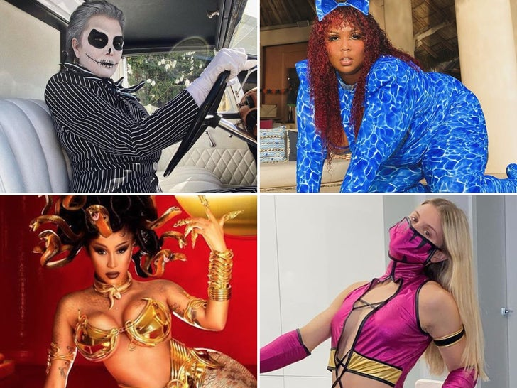 Hollywood's Best Halloween Costumes of 2020