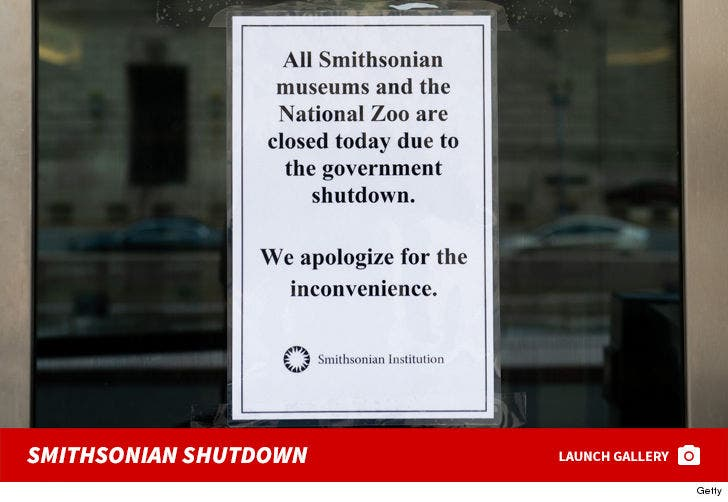 Smithsonian Museums and Zoo -- Closed Due To Shutdown