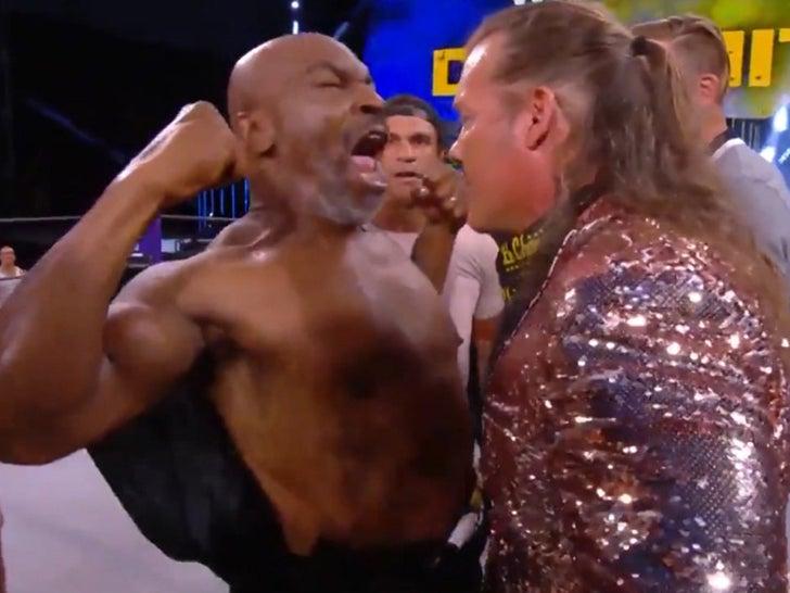 Mike Tyson Ignites Aew Brawl With Chris Jericho Henry Cejudo Involved