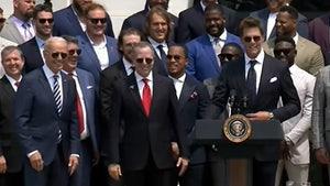 Tom Brady Cracks Election Joke At White House Party, '40% Still Don't Think We Won'
