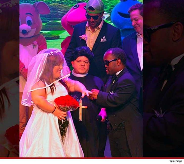 Mini Kim & Kanye Wedding -- We're Just A Lil' Married