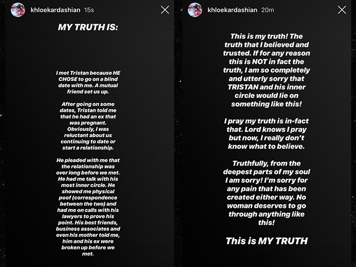 Khloe Kardashian Denies Claims She Cheated With Tristan Thompson
