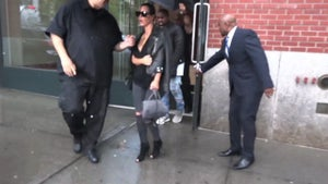 Kim Kardashian -- Doin' the Bump ... Somebody's Showing (VIDEO)