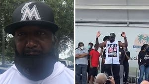 Trayvon Martin's Father Attends BLM Protest Alongside Rick Ross, Others