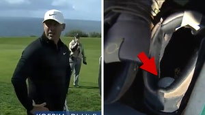 Golf Star Brooks Koepka Hits Tee Shot Into Cameraman's Shoe, Play It As It Lies?!
