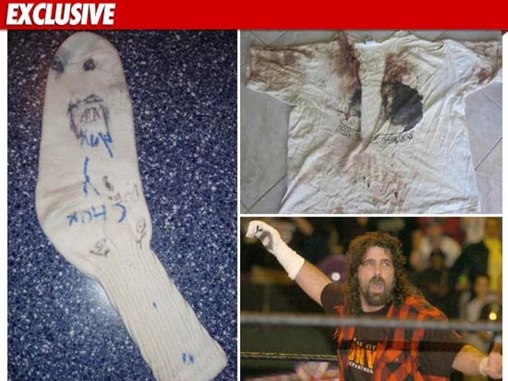 Mick Foley -- Surrendering MR  SOCKO     For Charity