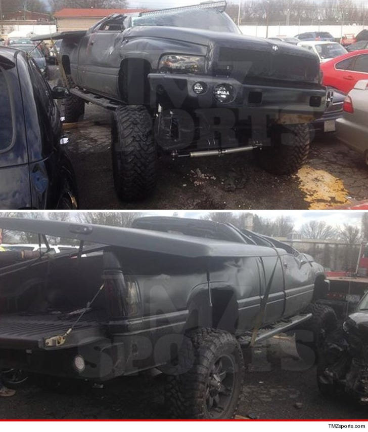 Cam Newton S Truck The Wreckage Pics