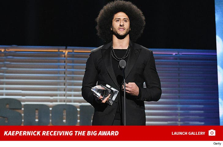 Colin Kaepernick Receiving the Muhammad Ali Legacy Award