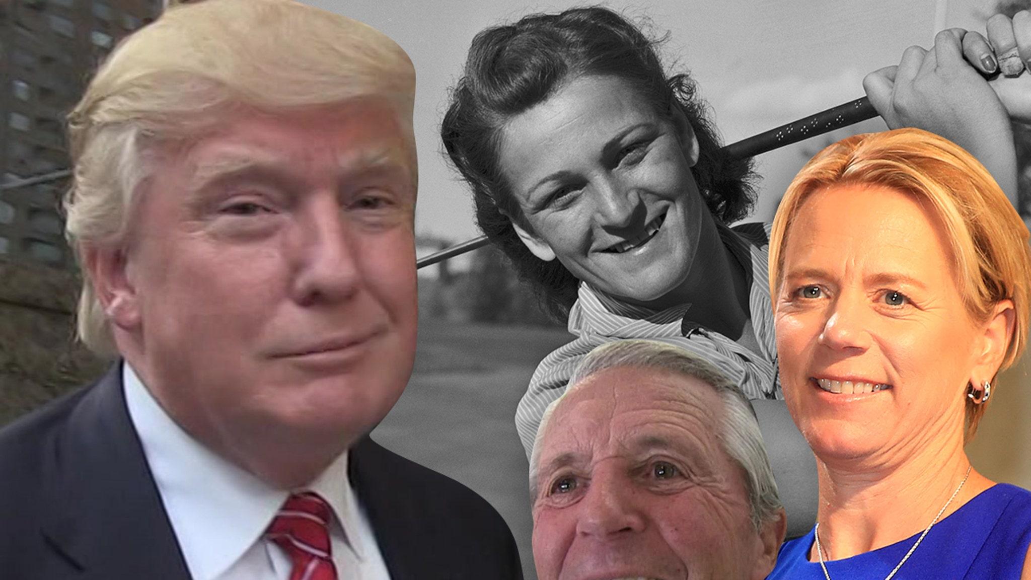 Президент Трамп вручает медаль свободы 3 игрокам в гольф в день после бунта Капитолия