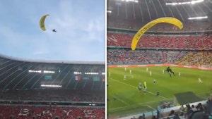 Euro 2020 Spectators Hospitalized After Parachuting Protester Crash-Lands At Stadium