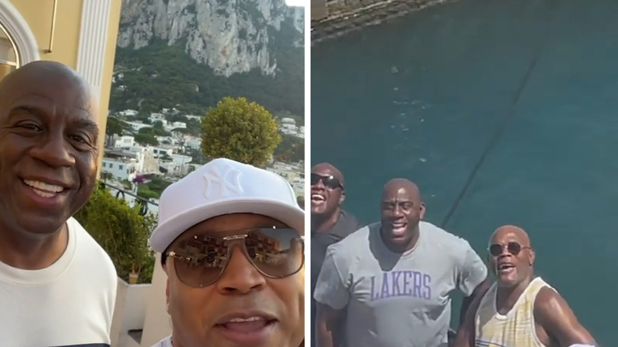 Magic Johnson, LL Cool J and Samuel L. Tour Italy On $1.1 Mil-Per-Week Yacht