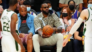 LeBron James Sits Courtside with Bottle of Tequila at NBA Finals