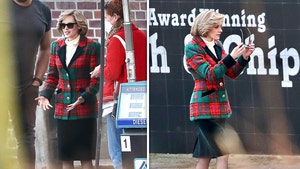 Kristen Stewart on Set as Princess Diana for 'Spencer' Film