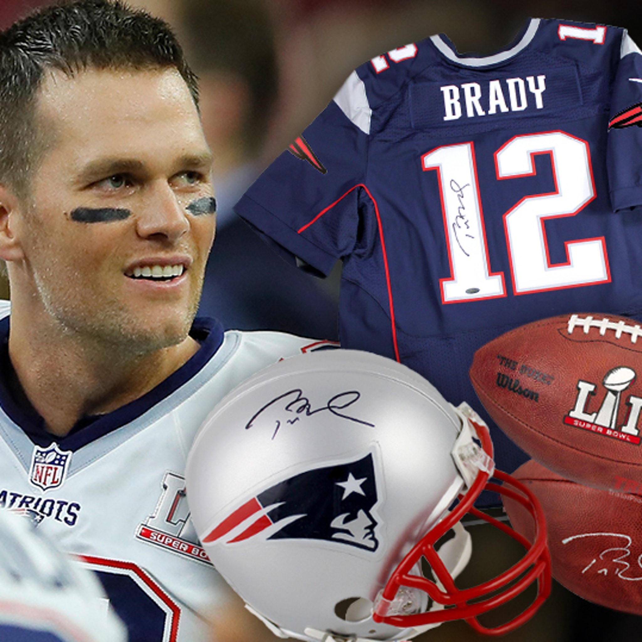 low priced d0bc4 dab9a Tom Brady Will Sign Your Footballs ... $1,000 a Pop!