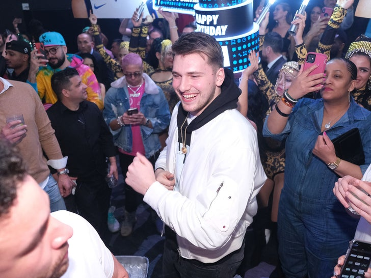 Luka Doncic 21st Birthday Party at LIV in Miami