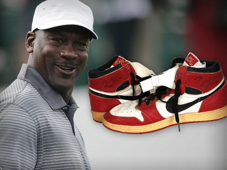 Michael Jordan Custom Game-Worn Air Jordans Hit Auction, Could ...