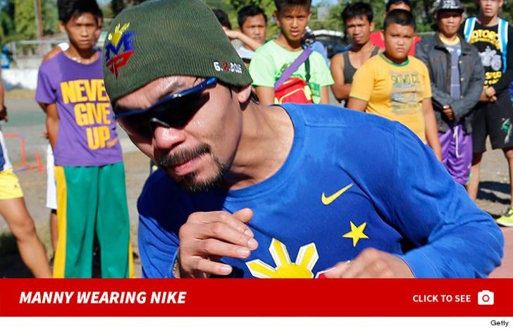Manny Pacquiao Wearing Nike