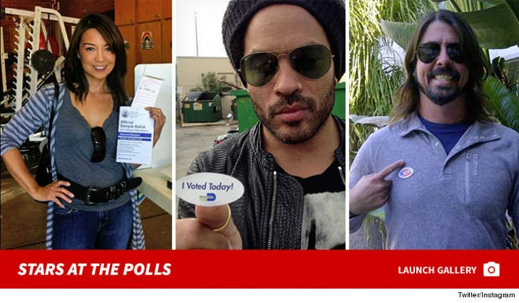 Election Day -- Stars at the Polls