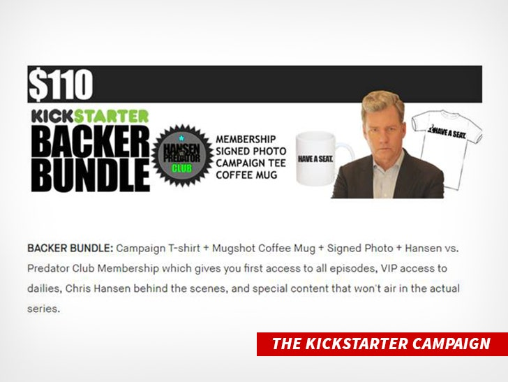 wykwintny styl buty na tanie duża zniżka Catch a Predator' Host Chris Hansen's Kickstarter Donors Saw ...