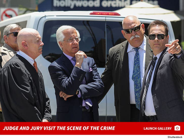 The Judge and jury Visit The Scene Of The Crime